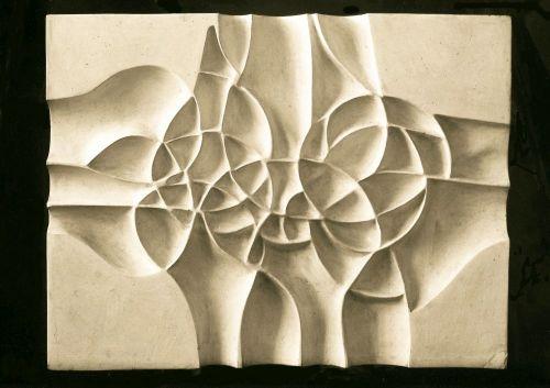 Płaskorzeźba, gips, 100 x 80 cm ,1980 r.a
