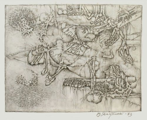 Rysunek ołówek, 26 x 20 cm, 1983 r.a
